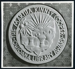 Early Ohioana Book Award, first given in 1943, from the 1940 Ohioana Publicity Scrapbook.