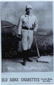 "Baseball card for William  Ellsworth ""Dummy"" Hoy, from p. 85 of The Ohio School for the Deaf: 175 Glorious Years."