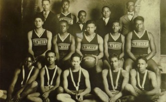Ca. 1925 photograph of the Panthers basketball team, also from Oxford, Ohio. Courtesy of the Smith Library of Regional History via Ohio Memory.