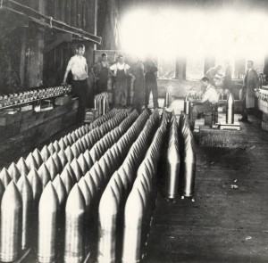 Leidecker Tool Co. of Marietta, which produced torpedoes for use in World War I, 1915. Courtesy of the Washington County Public Library via Ohio Memory.