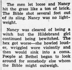 """From """"True Tales About Ohio,"""" August 21, 1953. Via the Amherst News-Times on Ohio Memory."""
