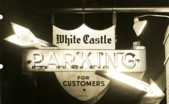 Parking sign at White Castle No. 22 in Cincinnati, March 1941. Via the White Castle Digital Collection on Ohio Memory.