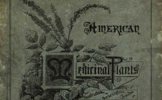 Cover of American Medicinal Plants, 1887. Via the State Library of Ohio Rare Books Collection on Ohio Memory.
