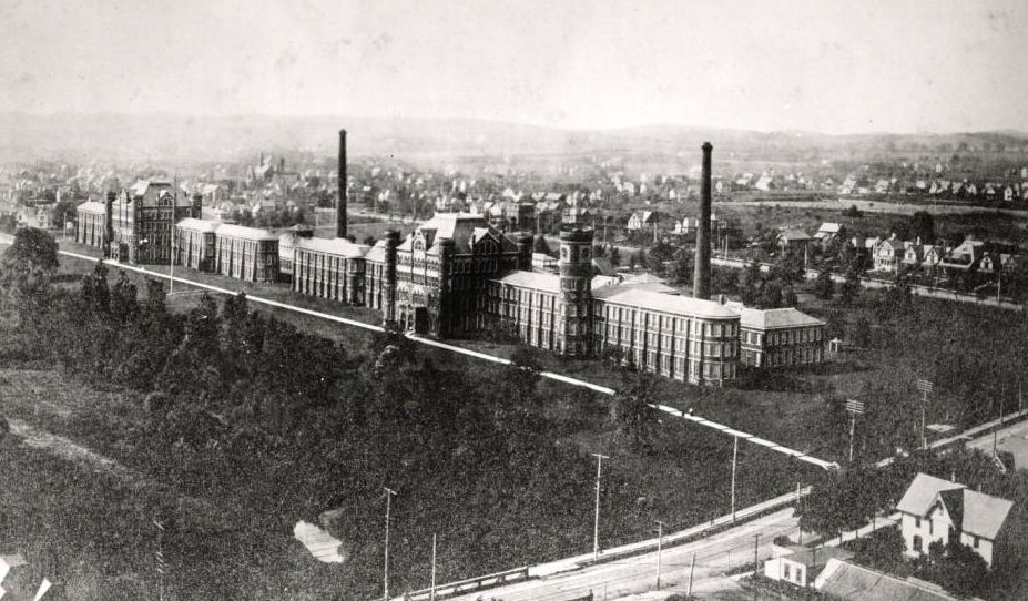Aerial image of the watch works, courtesy of the McKinley Presidential Library & Museum via Ohio Memory.