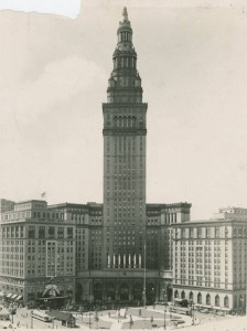 Photograph of Cleveland's iconic Terminal Tower, via Ohio Memory.
