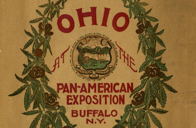 'Ohio at the Pan-American Exposition' program cover, via Ohio Memory.