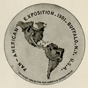 Logo for the 1901 Exposition, via Ohio Memory.