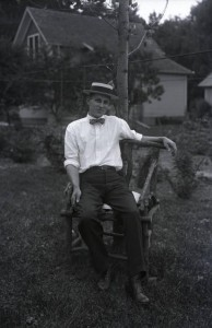 Self-portrait of Harry posed in a lawn chair, August 10, 1913. Via Ohio Memory.