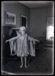 Kinley's daugher, Lucille, who donated the collection in 1996. This photograph, ca. 1927, shows her dressed as a raincloud.