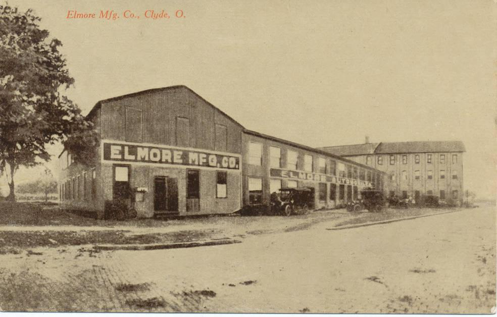 The Elmore Manufacturing Company in Clyde, Ohio. Courtesy of the Clyde Public Library via Ohio Memory.