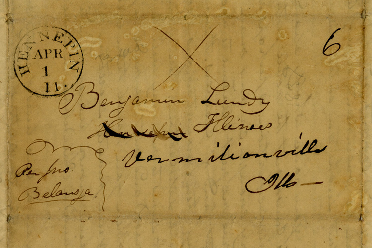 Correspondence between Benjamin Lundy and Eli Nichols, via Ohio Memory.