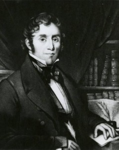 Illustrated portrait of Benjamin Lundy, ca. 1820. Via Ohio Memory.