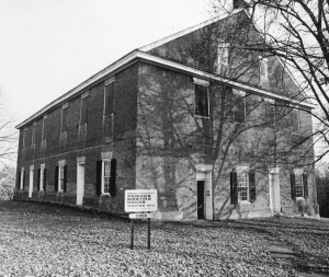 Quaker Meeting House in Mount Pleasant, Ohio, where Lundy settled for a time and began publishing the Genius of Universal Emancipation. Via Ohio Memory.
