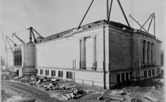 The Cleveland Museum of Art nearing completion, courtesy of the museum via Ohio Memory.