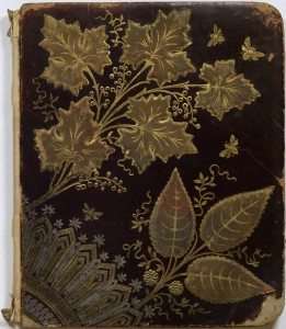 Ornate cover of an autograph book belonging to Charles Young, 1882-1886, via the National Afro-American Museum and Cultural Center on Ohio Memory.