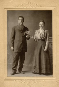 William (holding a small model glider) and Almina, from the McKinley Presidential Library and Museum on Ohio Memory.