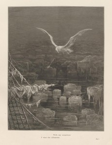 """....With my cross-bow/ I shot the Albatross,"" engraved plate by Gustave"