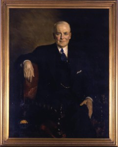 Governor's portrait of George White, 1935. Via the Ohio Governors Collection on Ohio Memory.