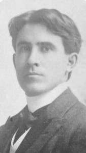 Zane Grey as a college-aged young man, via Ohio Memory.