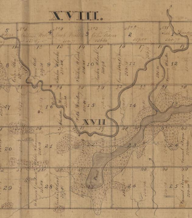 Portion of Scofield's map, via Ohio Memory.
