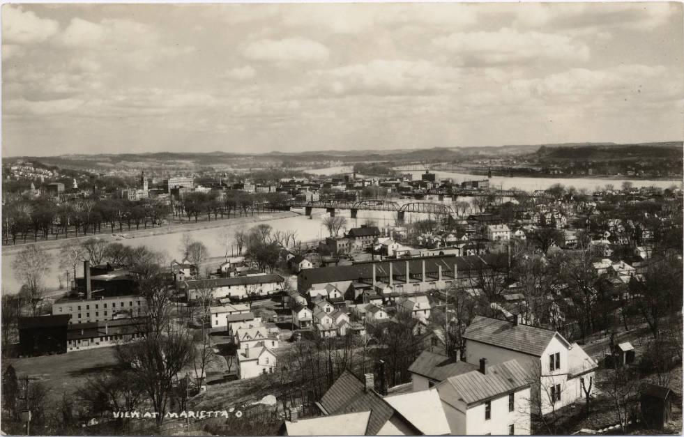 Marietta as it grew up along the Ohio River, via Ohio Memory.