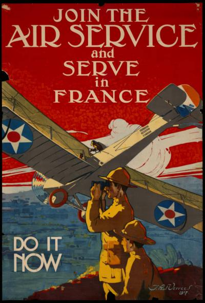 Recruitment poster via the World War I in Ohio Collection.
