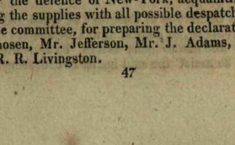 Entry from Journals of the American Congress, June 11, 1776. Via the State Library of Ohio Historical Documents Collection.