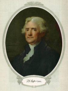 Thomas Jefferson, one of the Committee of Five. Via Ohio Memory.