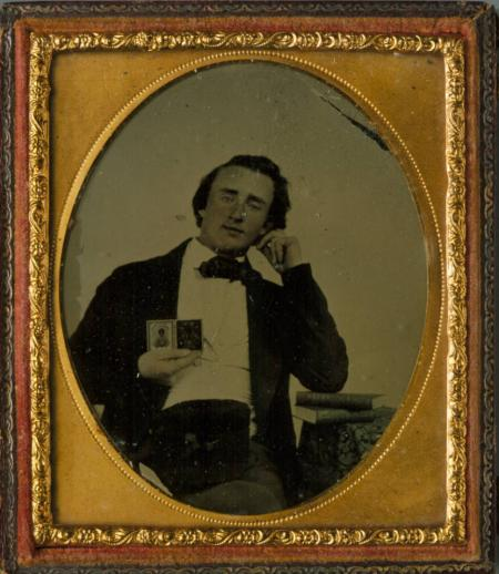 Ambrotype portrait of Custer as a young man before his departure for West Point. Courtesy of the Harrison County Historical Society via Ohio Memory.