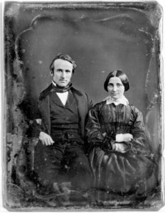 Rutherford and Lucy on their wedding day, courtesy of the Hayes Presidential Center via Ohio Memory.