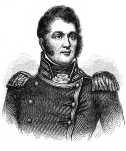 Portrait of Commander Perry from Fieldbook of the War of 1812, via Ohio Memory.
