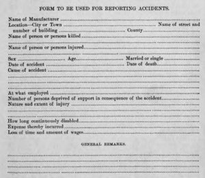 Sample report included in the 1889-1890 Annual Report, via the State Library of Ohio Historical Documents Collection on Ohio Memory.