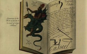 """Illustration from  The magus, or, Celestial intelligencer : being a complete system of occult philosophy,"""" via the State Library of Ohio Rare Books Collection on Ohio Memory."""