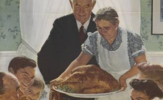 A classic Thanksgiving scene in Rockwell's Freedom from Want, via the State Library of Ohio Historical Documents Collection on Ohio Memory.