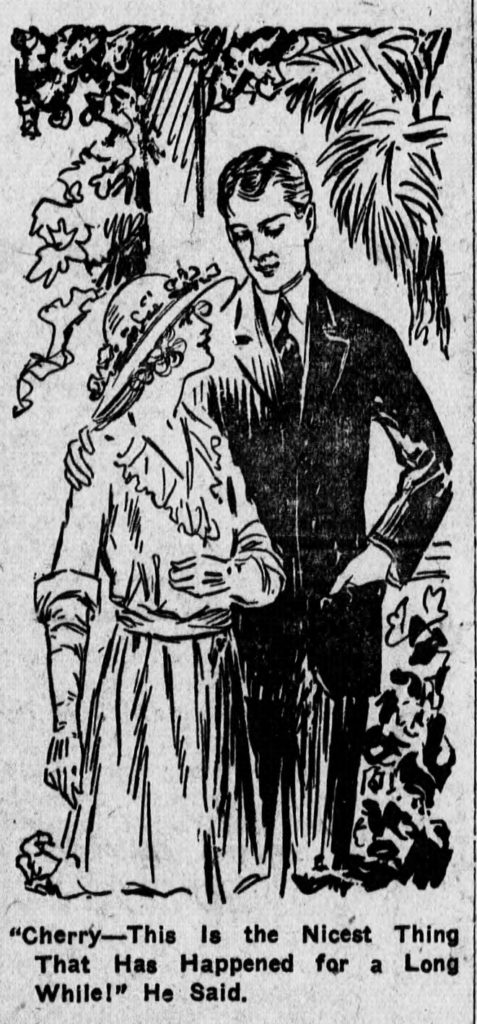 Illustration from Sisters, published in the Medina Sentinel in 1921-1922. Via Chronicling America.