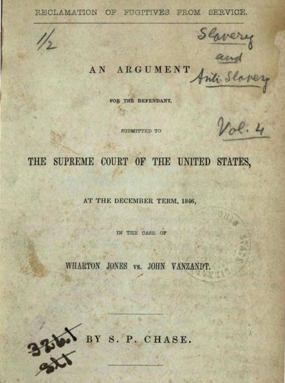 The Law of the Land: Chief Justice Salmon P  Chase
