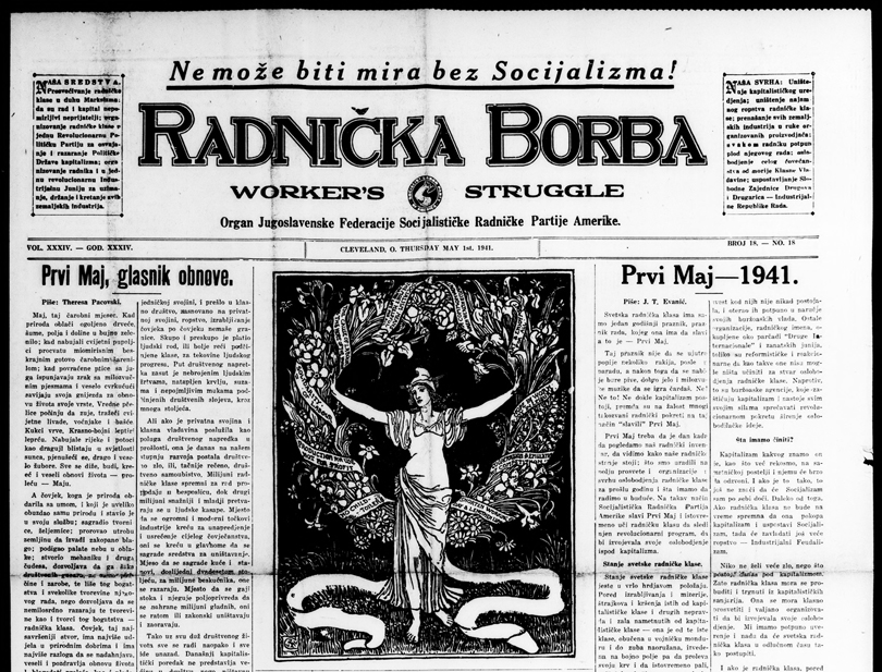 Radnička borba = Workers' struggle. [volume] ([New York, N.Y.]), 01 May 1941, Image 1